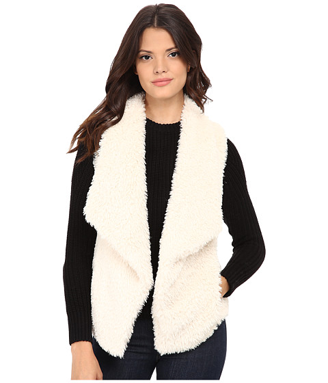 Calvin Klein - Short Hair Faux Fur Vest (Soft White) Women's Vest