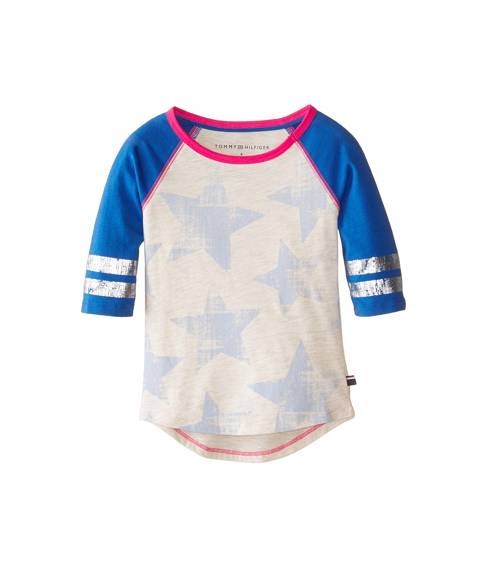Tommy Hilfiger Kids - 3/4 Babseball Tee (Little Kids) (Oatmeal Heather) Girl's T Shirt
