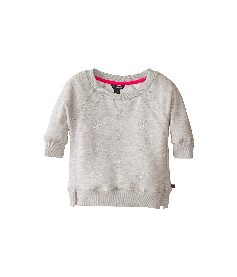 Tommy Hilfiger Kids - All Over Jewel Crew Neck (Little Kids) (Pearl Heather) Girl's Sweatshirt