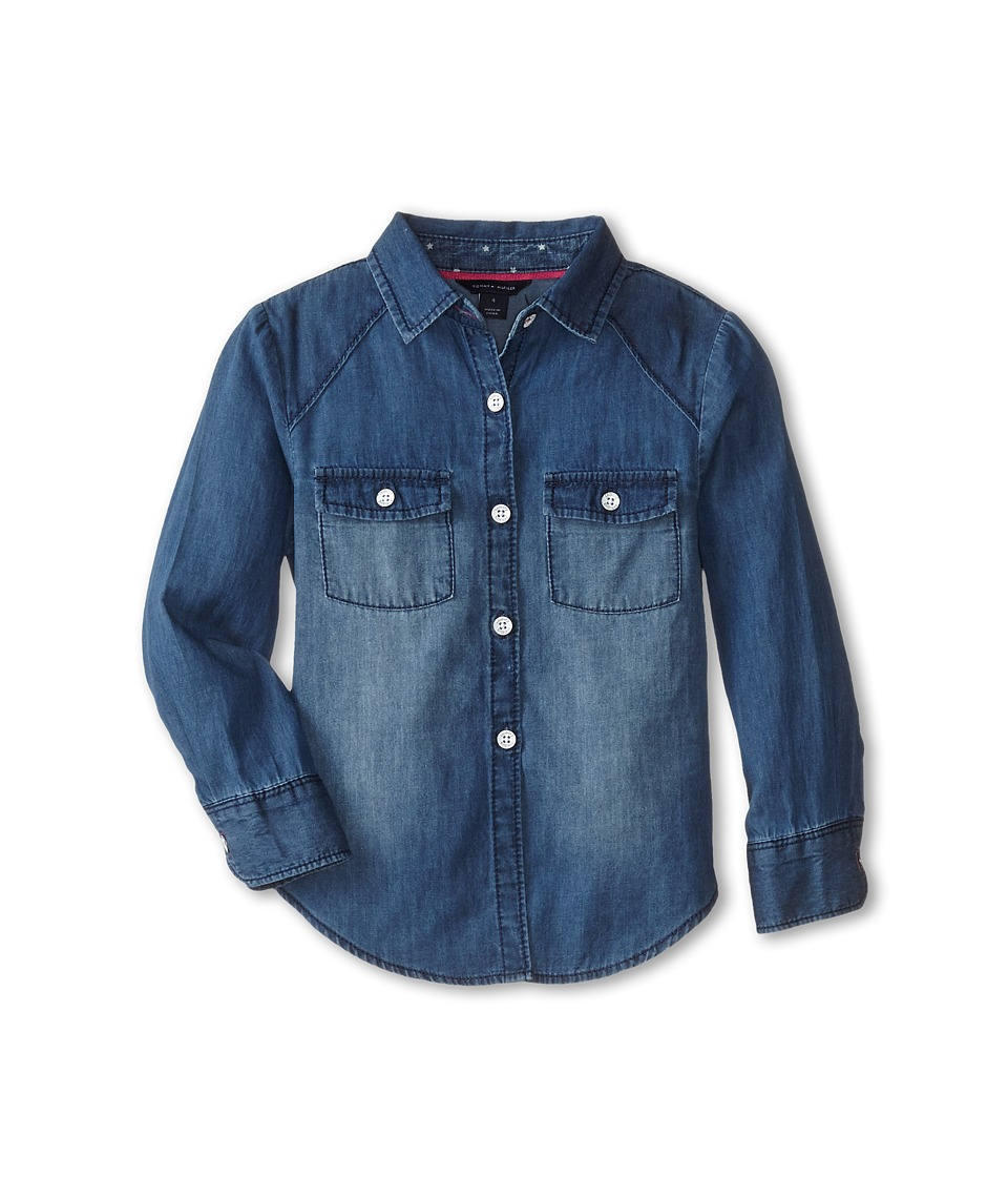 Tommy Hilfiger Kids - Denim Shirt (Little Kids) (Medium Blue) Girl's Clothing