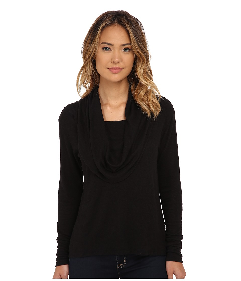 LNA - Scarf Top (Black) Women's Long Sleeve Pullover