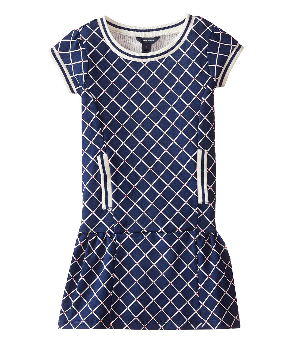 Tommy Hilfiger Kids - Printed French Terry Dress (Little Kids) (Flag Blue) Girl