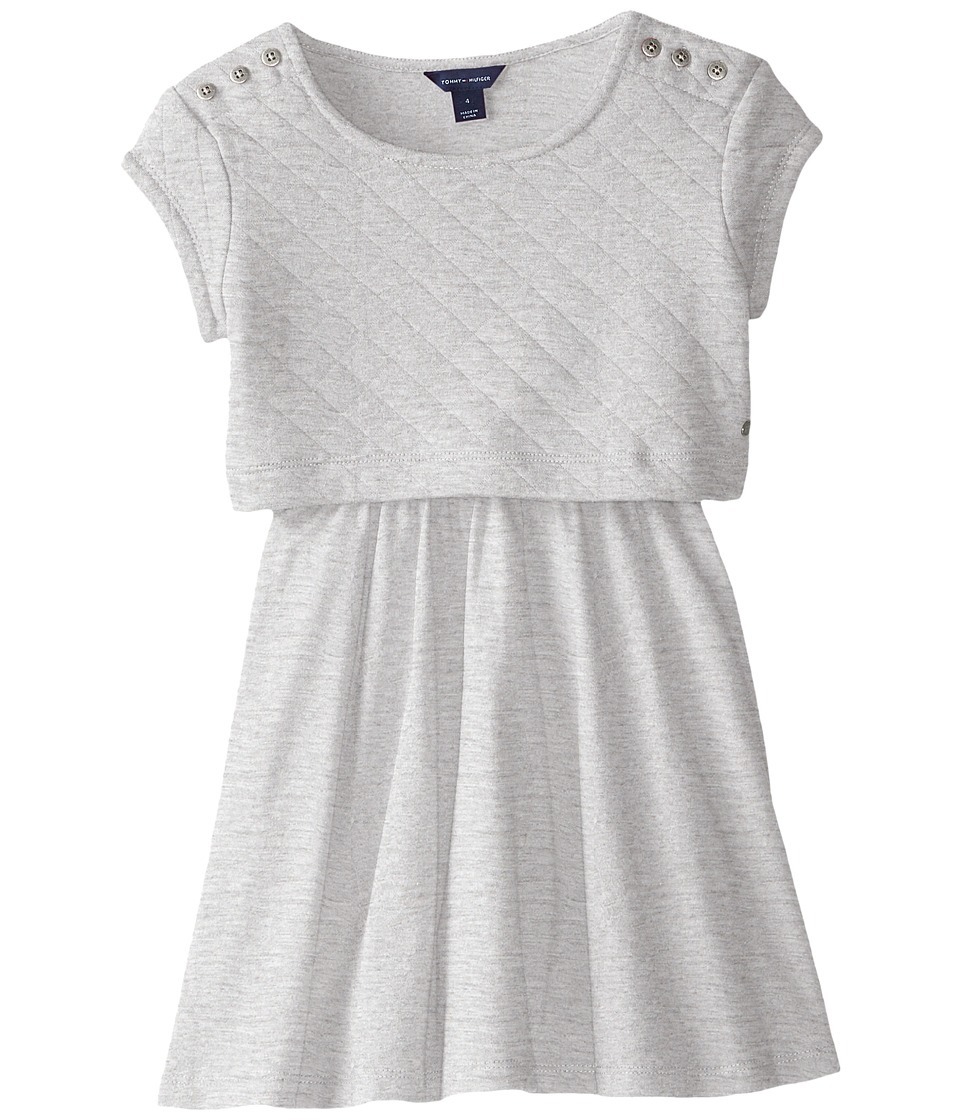 Tommy Hilfiger Kids - Quilted Crop Top Dress (Little Kids) (Pearl Heather) Girl's Dress