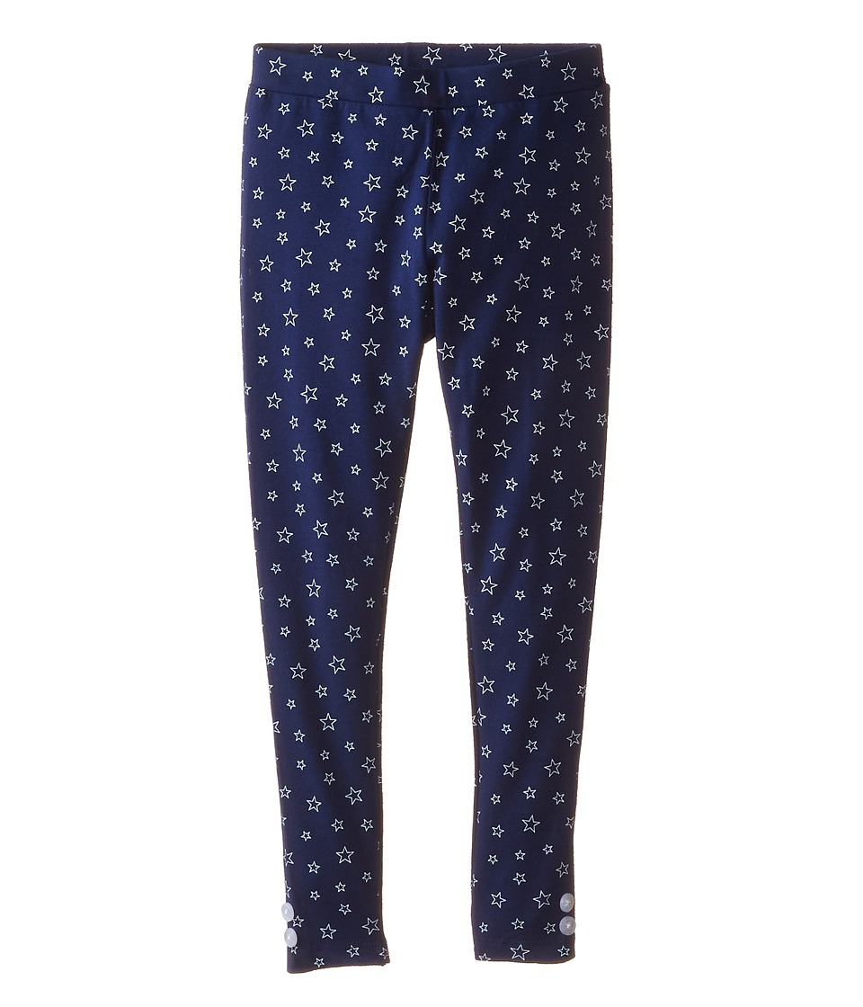 Tommy Hilfiger Kids - Star Print Leggings (Little Kids) (Medium Navy) Girl
