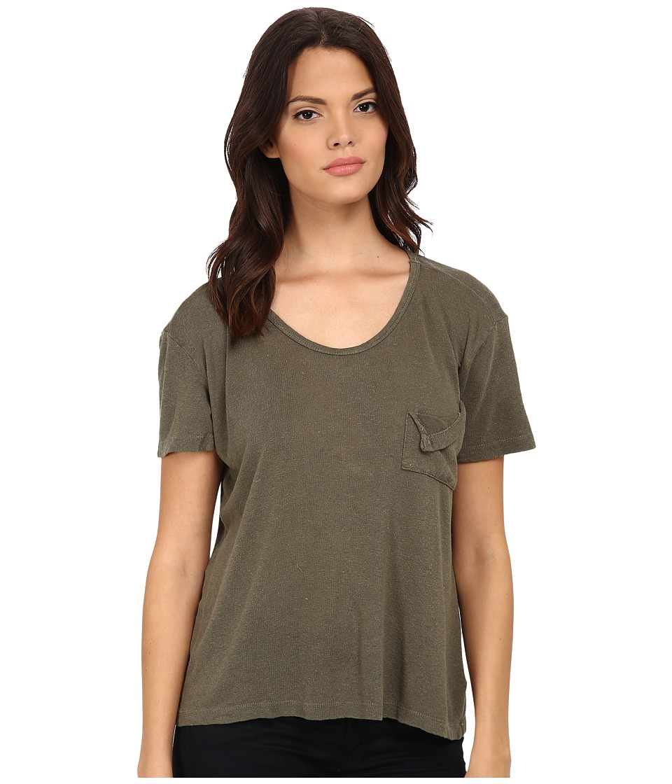 LNA - Short Sleeve Torn Pocket Tee (Army) Women