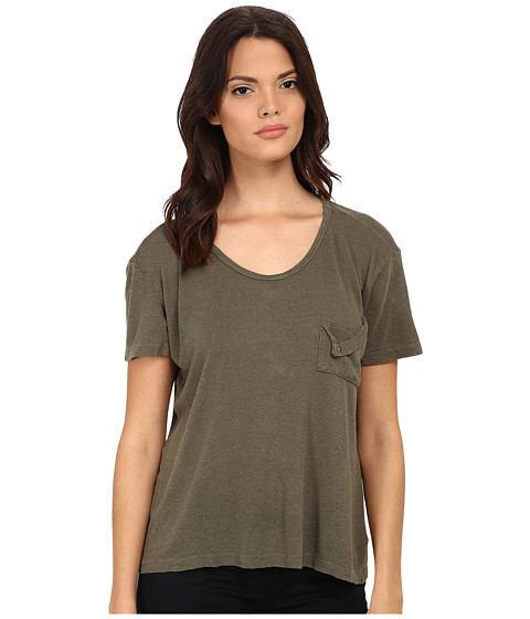 LNA - Short Sleeve Torn Pocket Tee (Army) Women's T Shirt