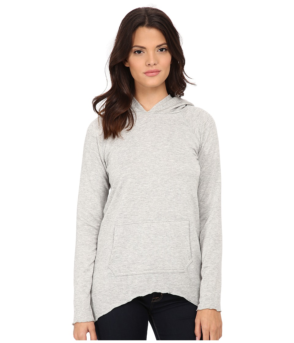 LNA - Side Tail Hoodie (Heather Grey) Women's Sweatshirt