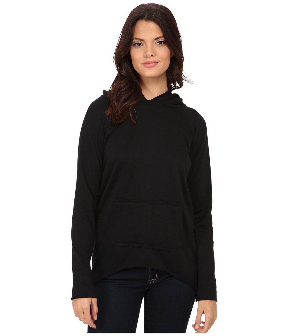LNA - Side Tail Hoodie (Black) Women's Sweatshirt