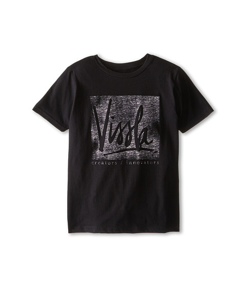 VISSLA Kids - Indirect Short Sleeve (Big Kids) (Black) Boy