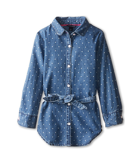 Tommy Hilfiger Kids - Printed Denim Tunic (Little Kids) (Medium Indigo Blue) Girl