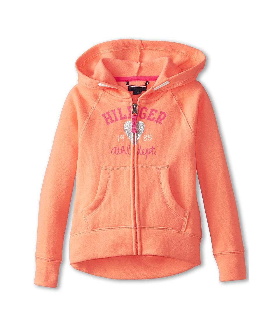 Tommy Hilfiger Kids - Signature Hoodie (Little Kids) (Salmon) Girl