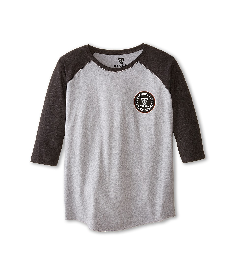 VISSLA Kids - Rounder Long Sleeve (Big Kids) (Black Heather) Boy's Clothing