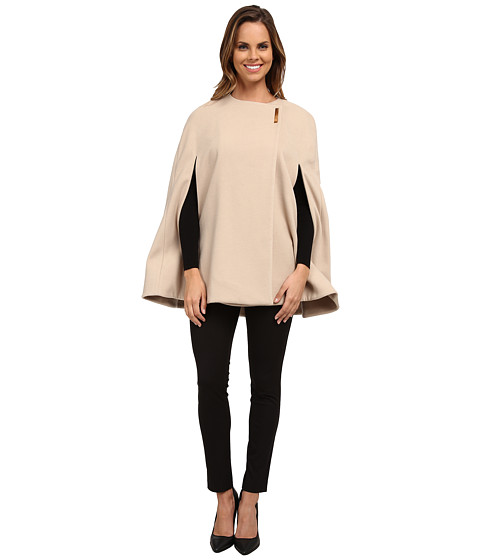 Calvin Klein - Cape with Large Gold Snap (Latte) Women