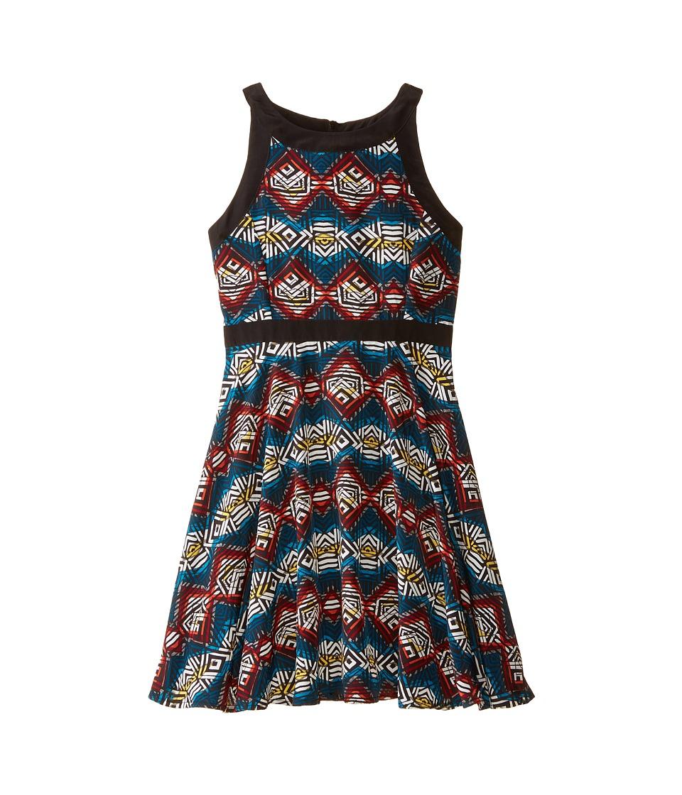 Ella Moss Girl - Layla Dress (Big Kids) (Print) Girl