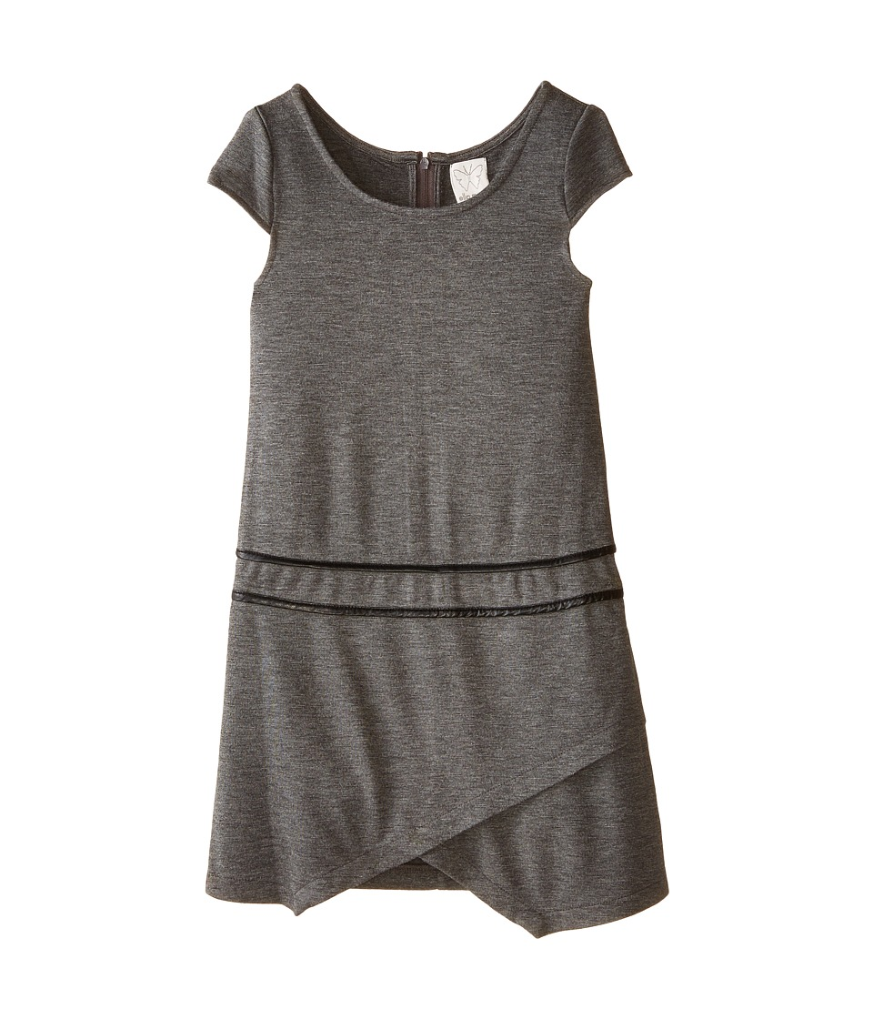 Ella Moss Girl - Kyliec Dress (Big Kids) (Charcoal) Girl's Dress