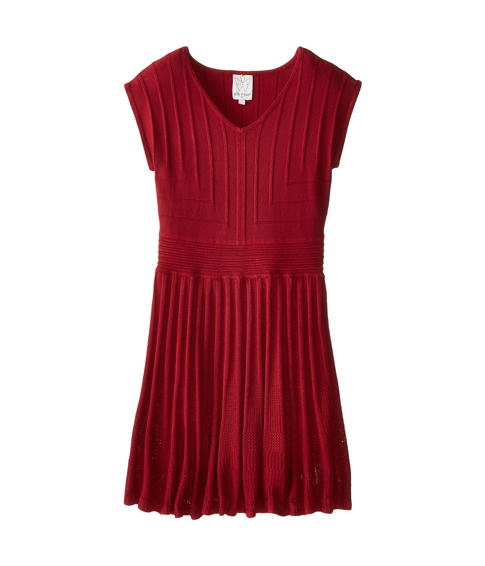 Ella Moss Girl - Ayla Dress (Big Kids) (Burgundy) Girl's Dress