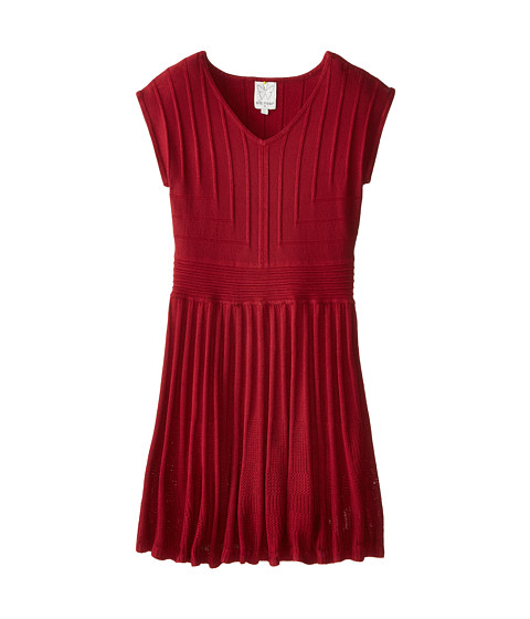 Ella Moss Girl - Ayla Dress (Big Kids) (Burgundy) Girl