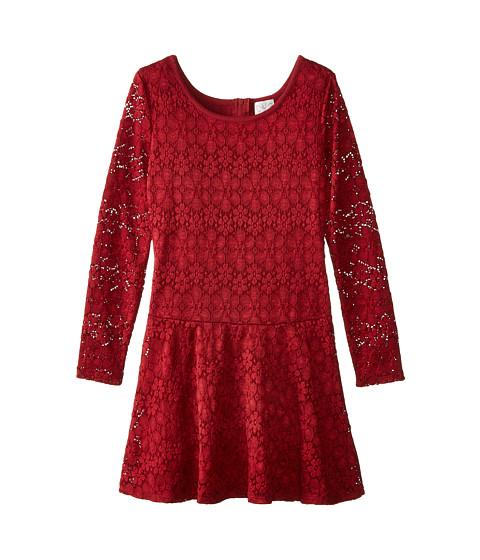 Ella Moss Girl - Madelyn Dress (Big Kids) (Burgundy) Girl's Dress
