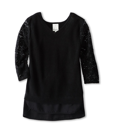 Ella Moss Girl - Madelyn Sweater (Big Kids) (Black) Girl's Sweater