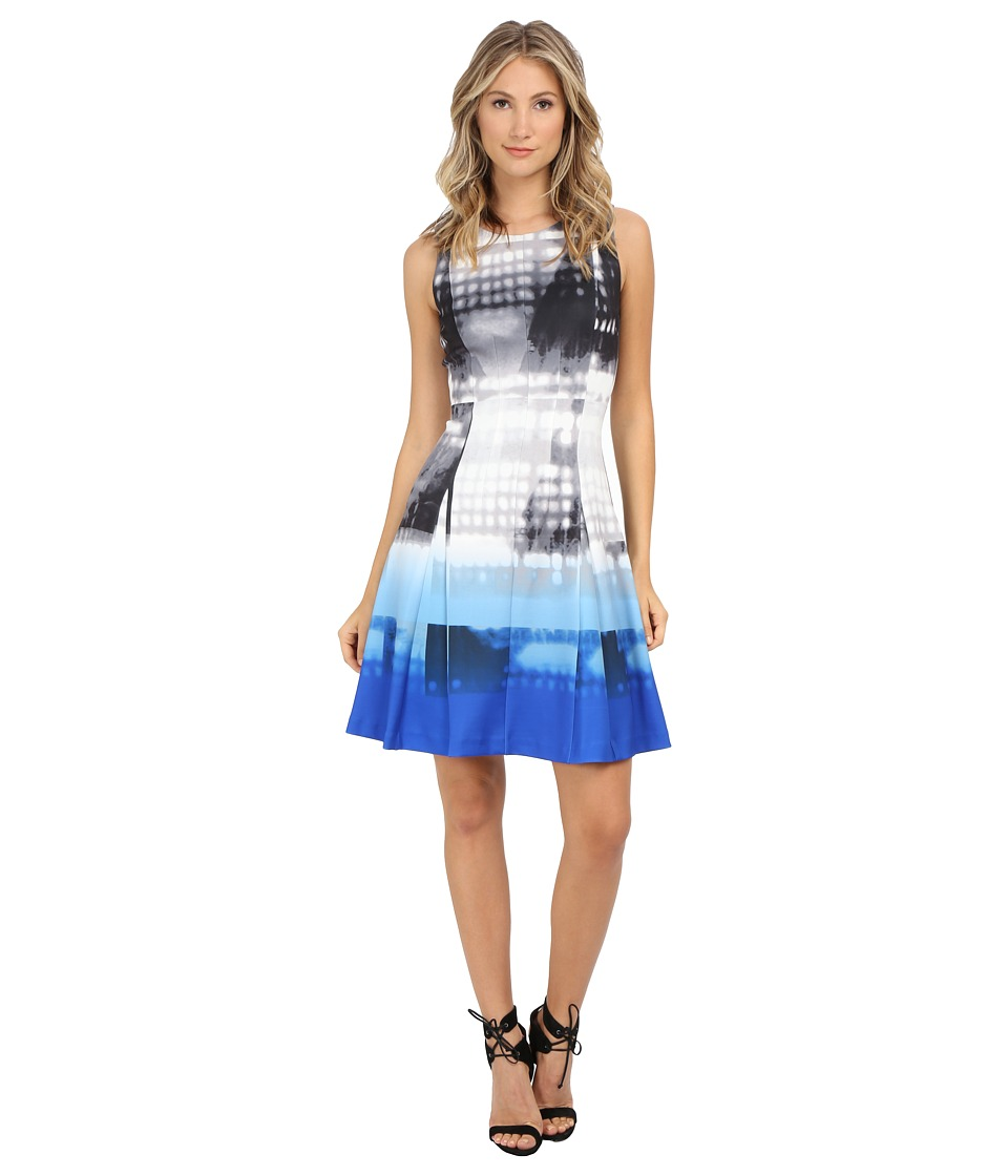 Calvin Klein - Printed Flare Dress (Celestial Multi) Women's Dress
