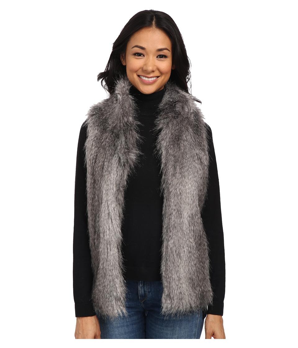 Calvin Klein - Faux Fur Vest (Charcoal) Women's Vest