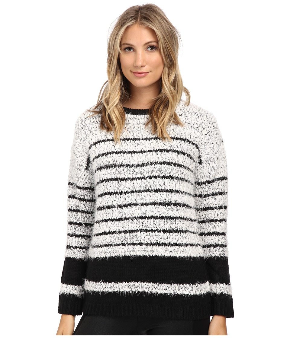 Calvin Klein - Stripe Eyelash Pullover (Black/White) Women's Sweater