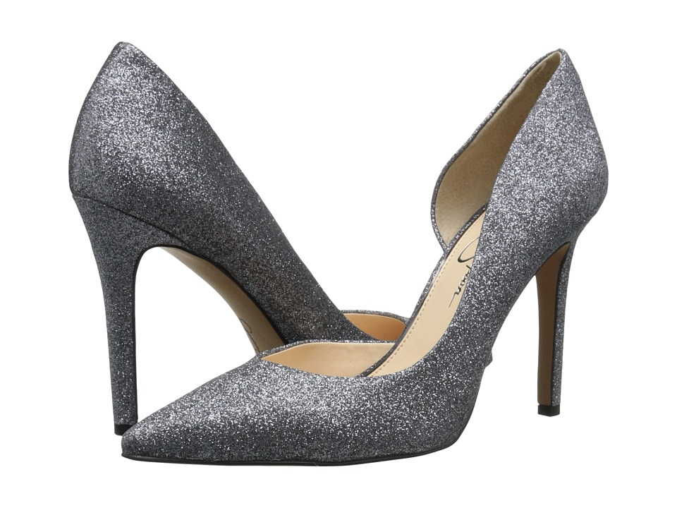 Jessica Simpson - Claudette (Alloy Dusty Glitter Fabric) High Heels