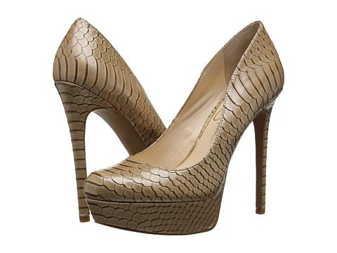 Jessica Simpson - Sandrah (Nude Luster Patent Snake Print) High Heels