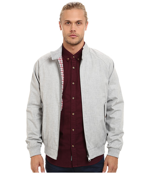 Ben Sherman - Melange Harrington Jacket MF11979A (Grey) Men's Jacket