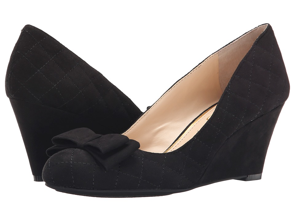 Jessica Simpson - Sincerely (Black Lux Kid Suede) Women's Wedge Shoes