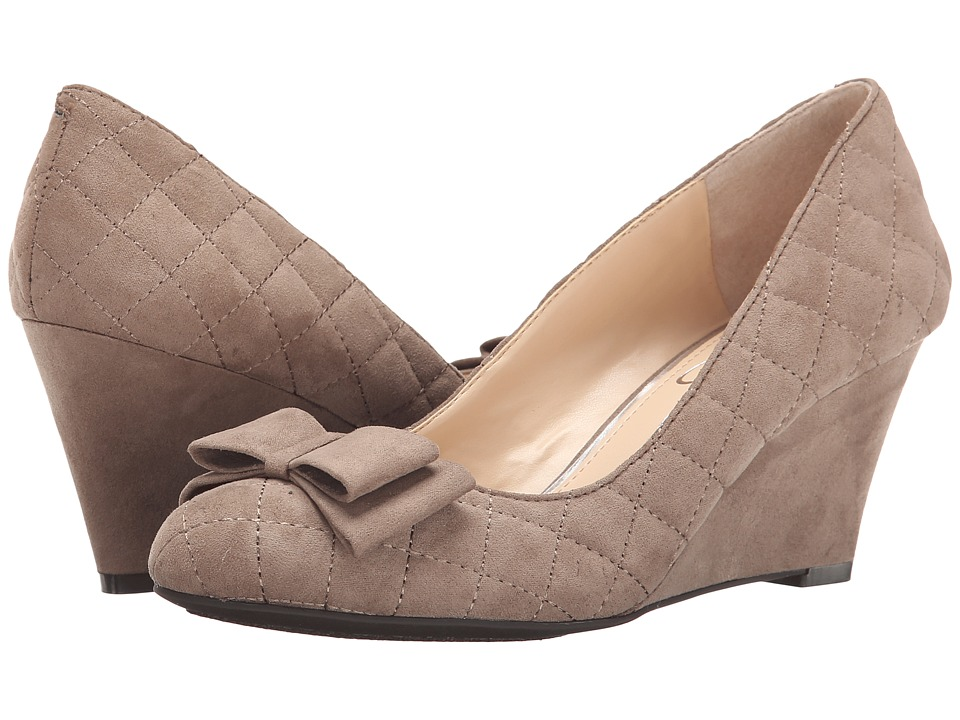 Jessica Simpson - Sincerely (Slater Taupe Lux Kid Suede) Women's Wedge Shoes