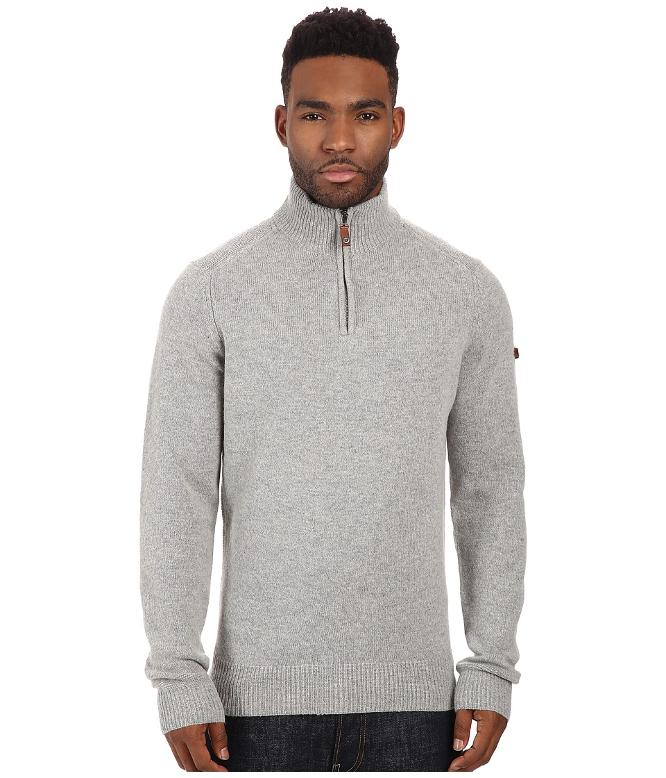 Ben Sherman - Long Sleeve Half Zip Neck Funnel Sweater ME11761 (Thunder Grey Marl) Men's Sweater