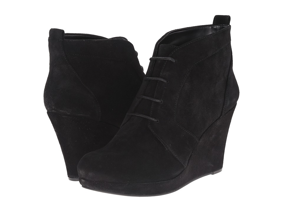 Jessica Simpson - Pather (Black Split Suede) Women's Wedge Shoes