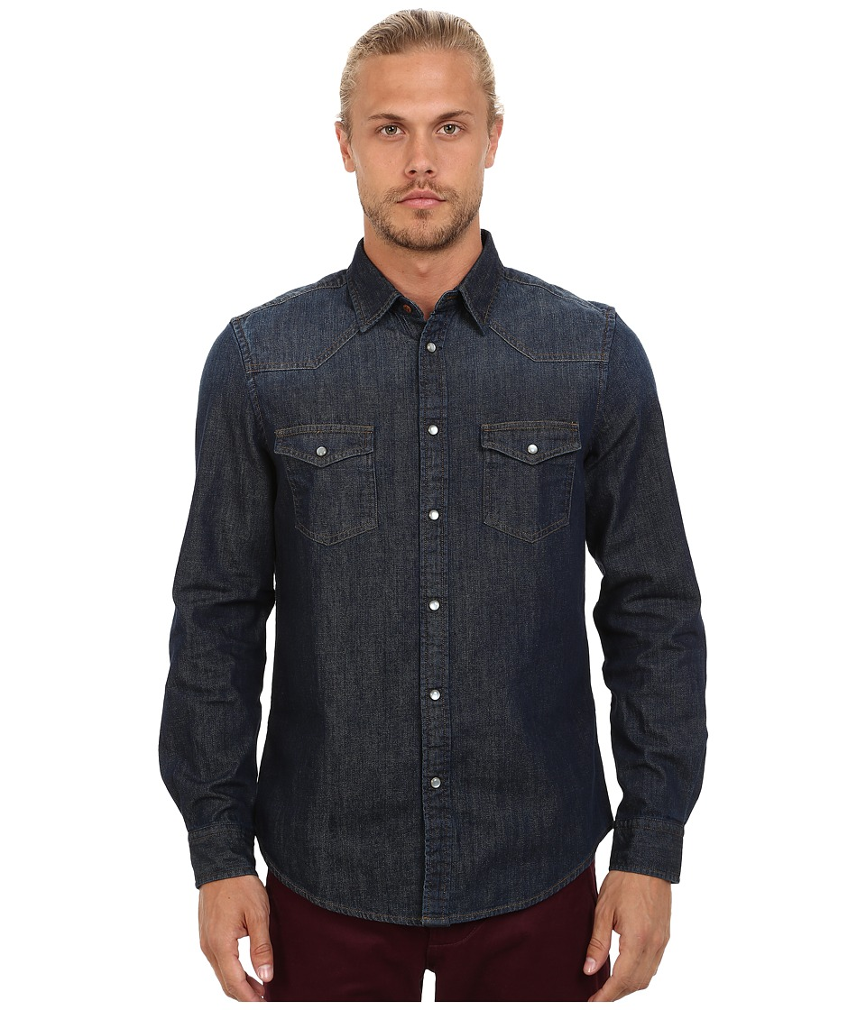 Ben Sherman - Long Seeve Denim Western Shirt MA11406 (Three Month Vintage Indigo) Men