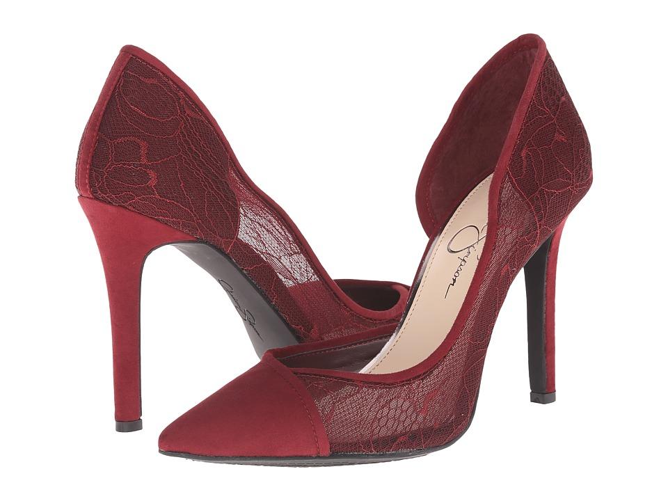 Jessica Simpson - Cavilla (Vampire Red Microsuede Lace Overlay) High Heels