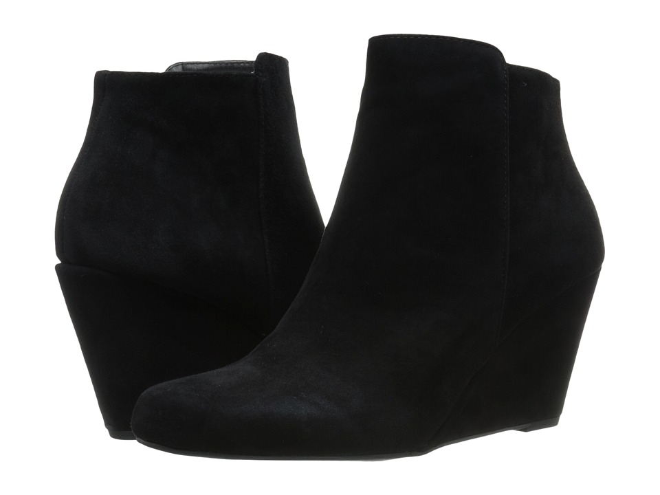 Jessica Simpson - Remixx (Black Lux Kid Suede) Women's Wedge Shoes
