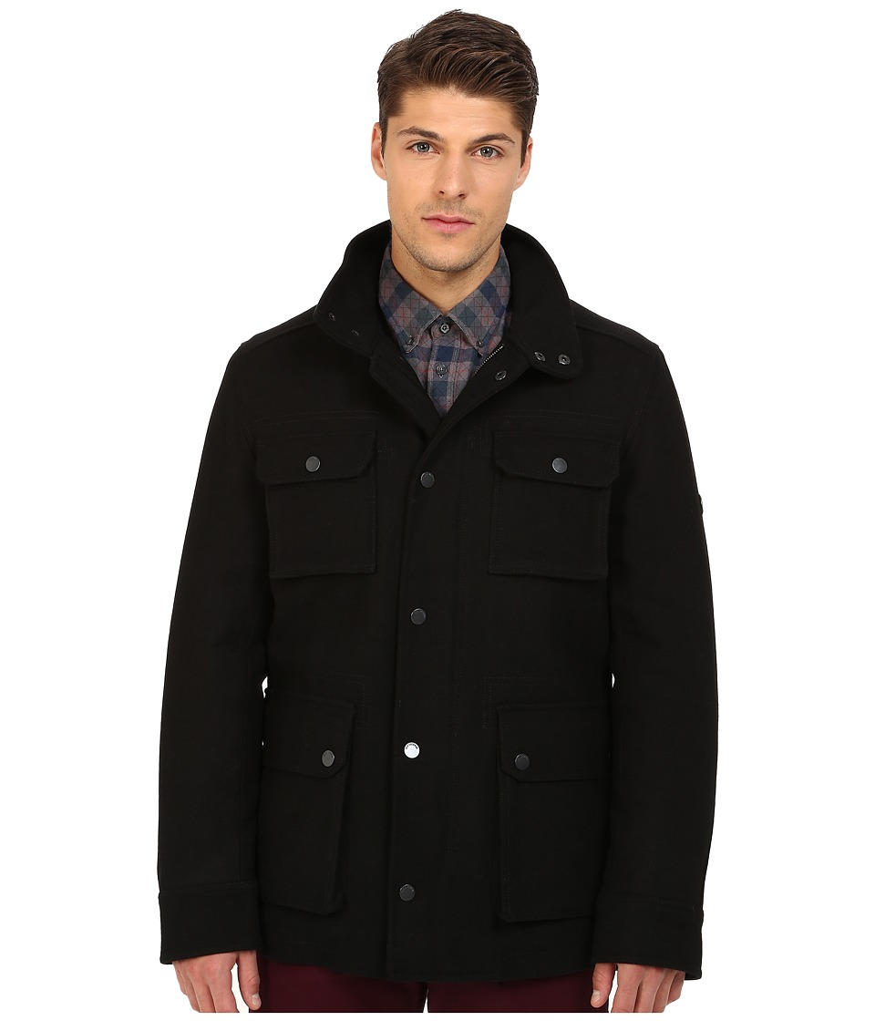 Ben Sherman - Melton Field Jacket MF11991 (Jet Black) Men's Coat