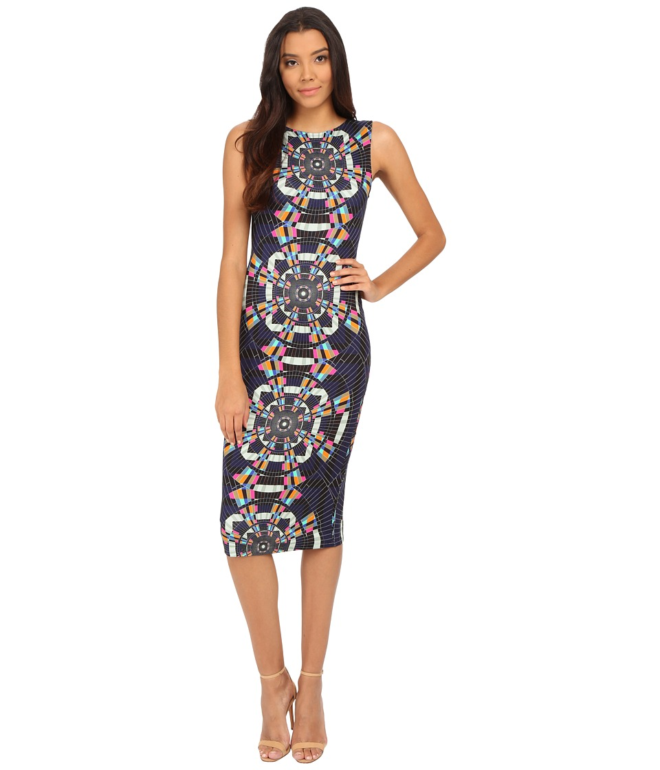 Mara Hoffman - Fitted Sleeveless Midi Dress (Tesselate Navy) Women's Dress
