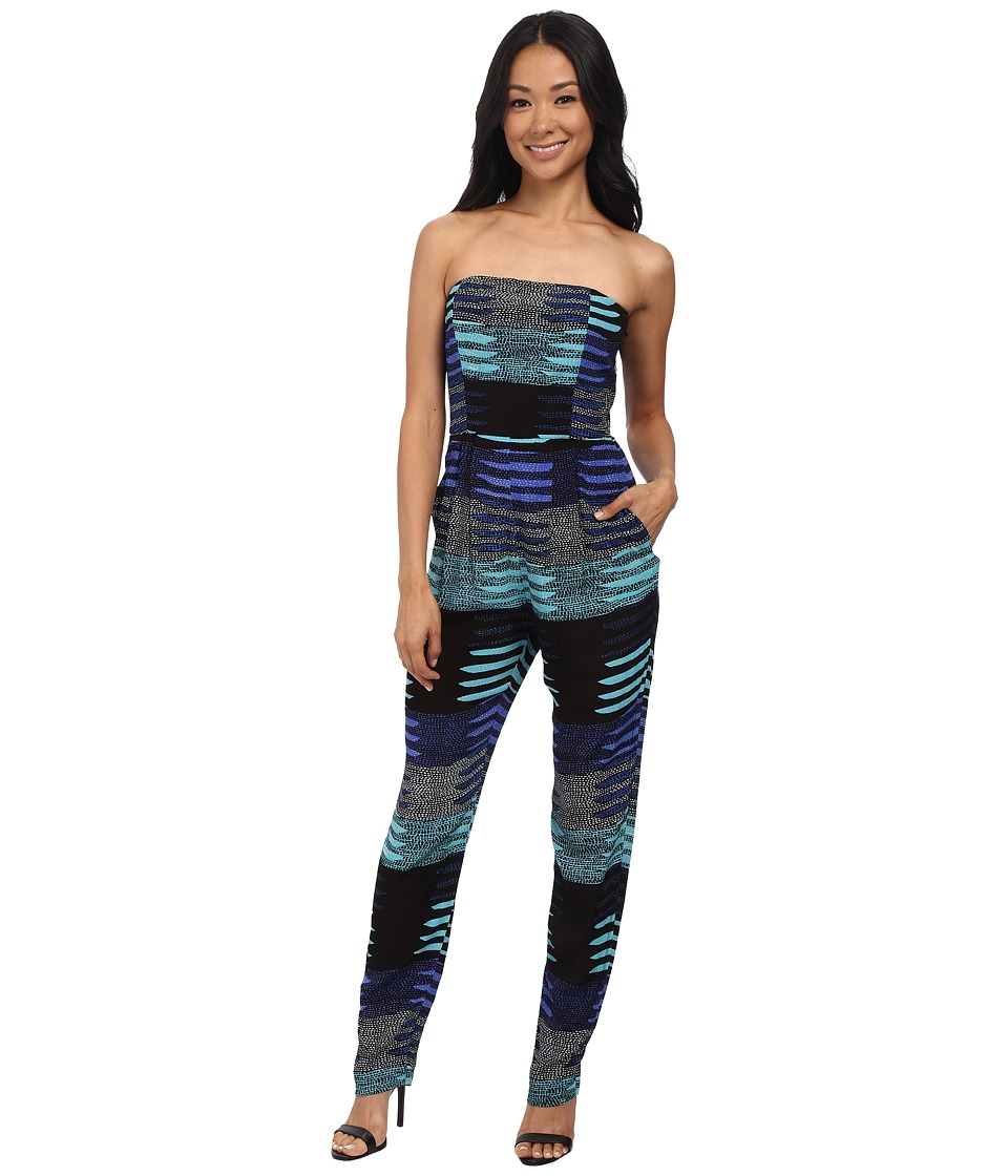 Mara Hoffman - Crepe Strapless Jumpsuit (Connector Blue) Women's Jumpsuit & Rompers One Piece