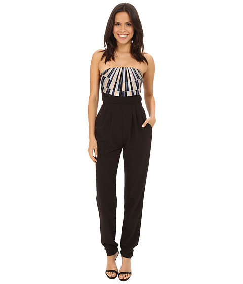 Mara Hoffman - Strapless Embroidered Jumpsuit (Black) Women's Jumpsuit & Rompers One Piece