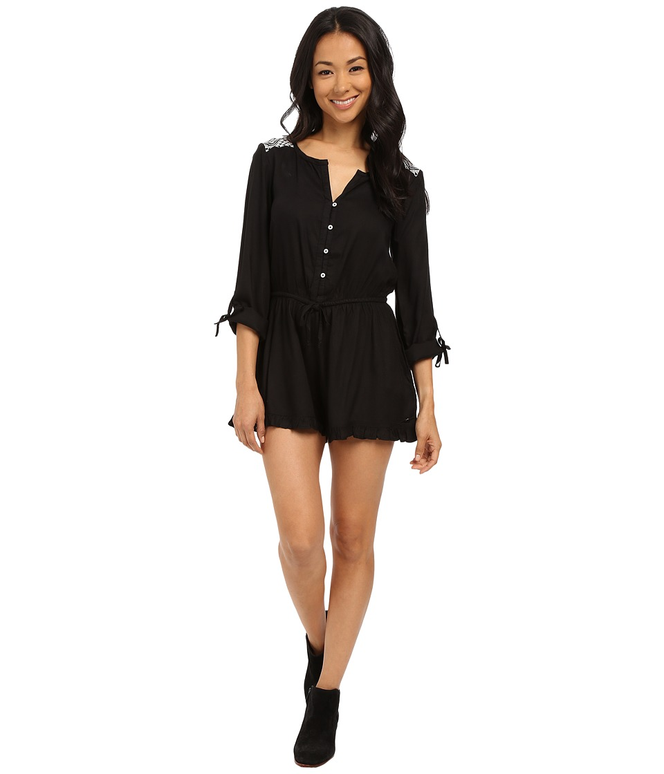 Roxy - Midnight Edge Solid Romper (True Black) Women