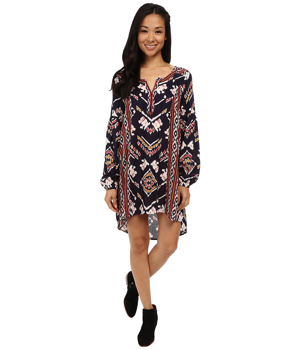 Roxy - Farther Shore Dress (Boho Ikat Paisley Combo) Women's Dress
