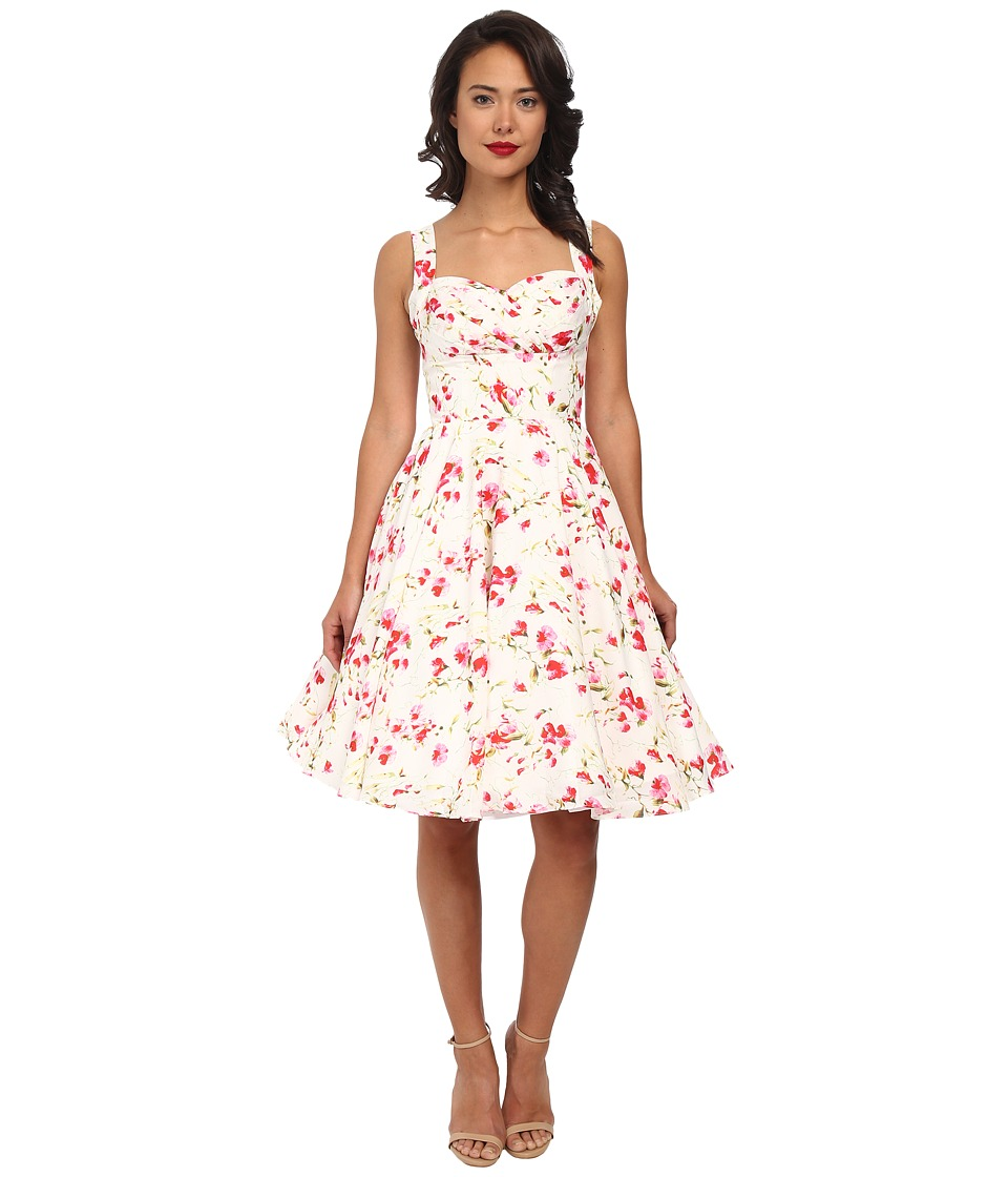 Unique Vintage - Happily Ever After Dress (Ivory Floral) Women's Dress