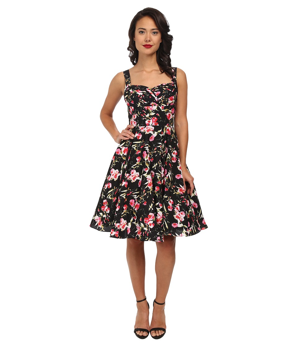 Unique Vintage - Happily Ever After Dress (Black Floral) Women's Dress