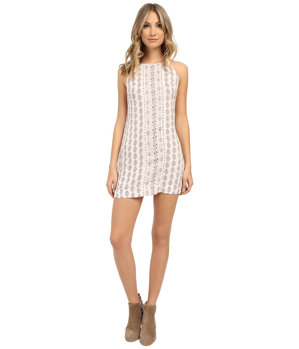 Roxy - Half Drift Dress (Small Paisley Combo Burgundy) Women's Dress