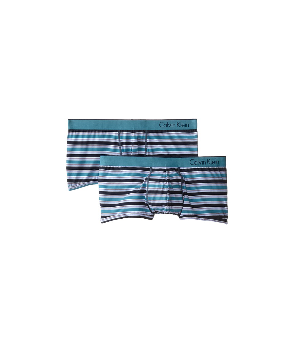Calvin Klein Underwear - One Micro Trunk 2-Pack U85162P (Watson Stripe/Odyssey) Men's Underwear