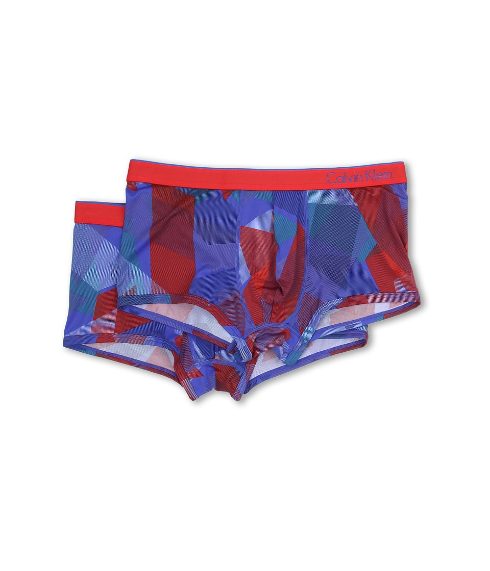 Calvin Klein Underwear - One Micro Trunk 2-Pack U85162P (Fragments Print/Red Heat) Men's Underwear