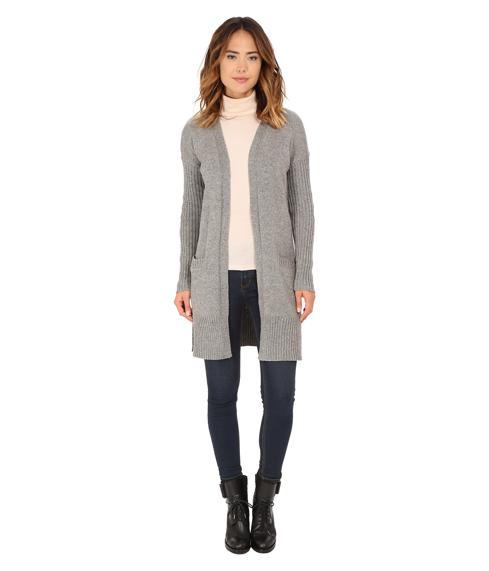 Roxy - Early Riser Solid Cardigan (Charcoal Heather) Women's Sweater