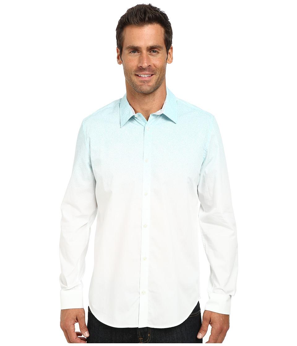 Calvin Klein - Gradient Engineer Print Woven Shirt (White) Men's Clothing