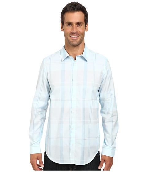 Calvin Klein - Liquid Cotton Large Plaid Woven Shirt (White) Men